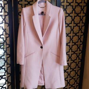 💼White House Black Market Rose Mist  Coat
